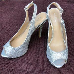 Silver Sparkley ALDO High Heels Prom